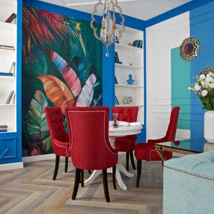 Неиссякаемый источник вдохновения для домашнего уюта: гостиная-столовая в стиле фьюжн