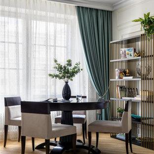 На фото: столовая в стиле современная классика