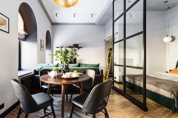 Transitional Dining Room by Maxim Maximov