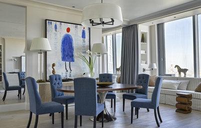 Houzz тур: Квартира в Москве с цветными холлами и панорамной спальней