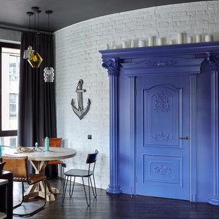 Пример оригинального дизайна: столовая в стиле фьюжн