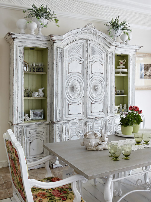 Shabby chic style dining room design ideas remodels photos for Dining room ideas shabby chic