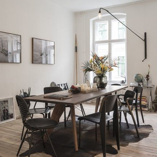 Example of a trendy dining room design in Moscow