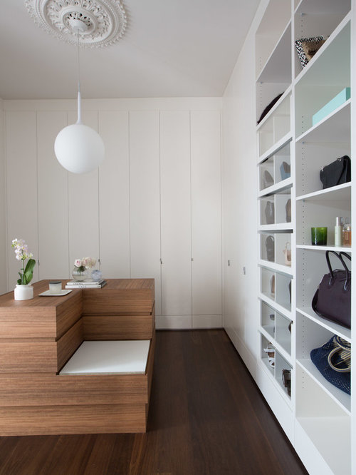 Contemporary Womenu0027s Storage And Wardrobe In Adelaide With Flat Panel  Cabinets, White Cabinets,. Save Photo. Sofiaa Interior Design