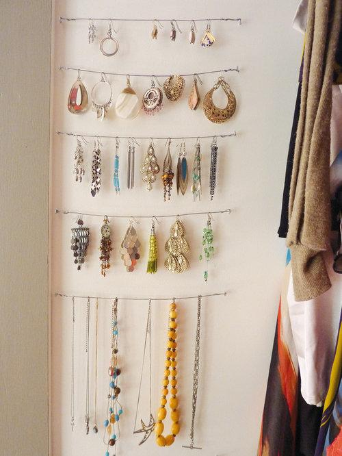 closet jewelry storage hanging 1