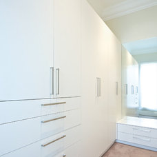 Contemporary Closet by kitchens by peter gill