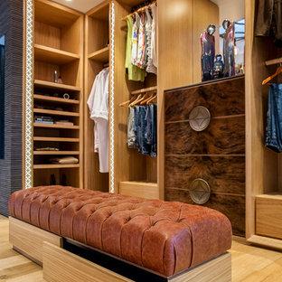 Источник вдохновения для домашнего уюта: большая гардеробная комната в современном стиле