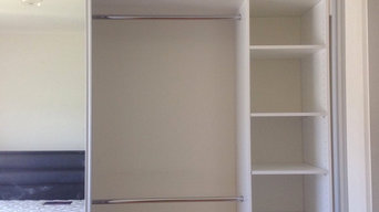 Recently installed wardrobes