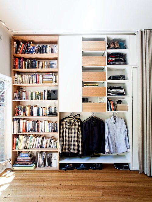 Hide Storage With Curtains Houzz