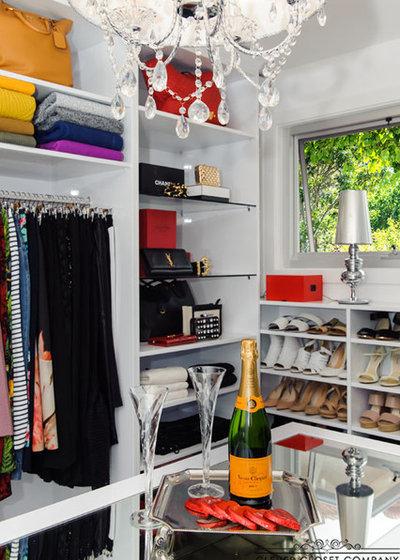 Contemporary Wardrobe by Clever Closet Company