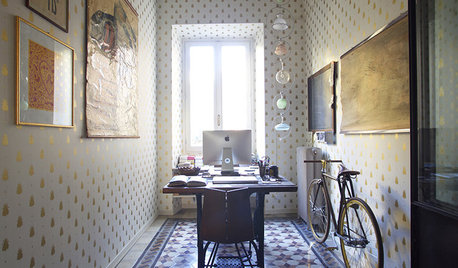 Milan Houzz Tour: Two Designers' Creative Vintage-Style Home