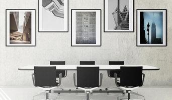 Set di 5 fotografie d'arte per le pareti di un ufficio