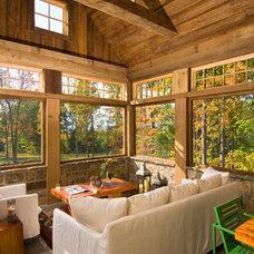 Rustic Sunroom by Witt Construction