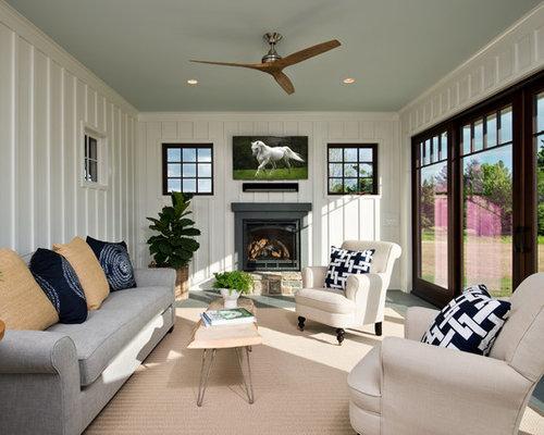 Farmhouse sunroom design ideas remodels photos houzz for Farmhouse sunroom ideas