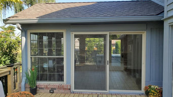 4 season sunroom and deck completed in Greenwood IN.