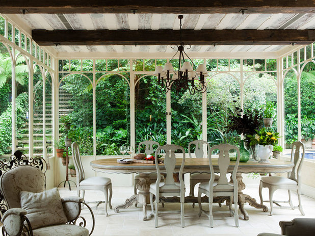 Traditional Conservatory by Marylou Sobel Interior Design