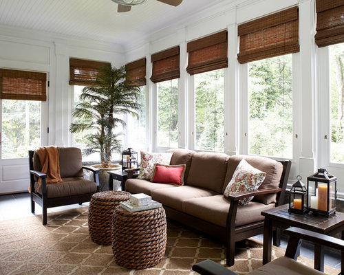 Inspiration For A Timeless Sunroom Remodel In New York With Standard Ceiling