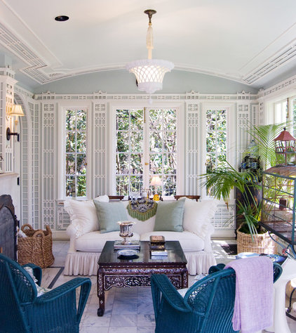 Eclectic Porch by J Wilson Fuqua & Assoc. Architects