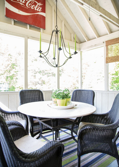 Farmhouse Sunroom by Bee's Knees Design, LLC
