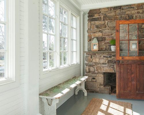 Foto e idee per verande veranda in montagna con for Proiettato in veranda con camino