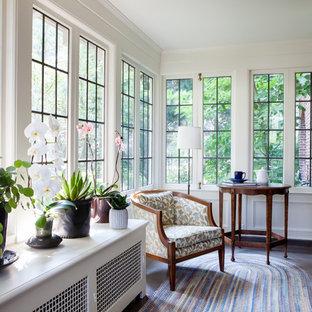 Sunroom - mid-sized craftsman concrete floor sunroom idea in Seattle