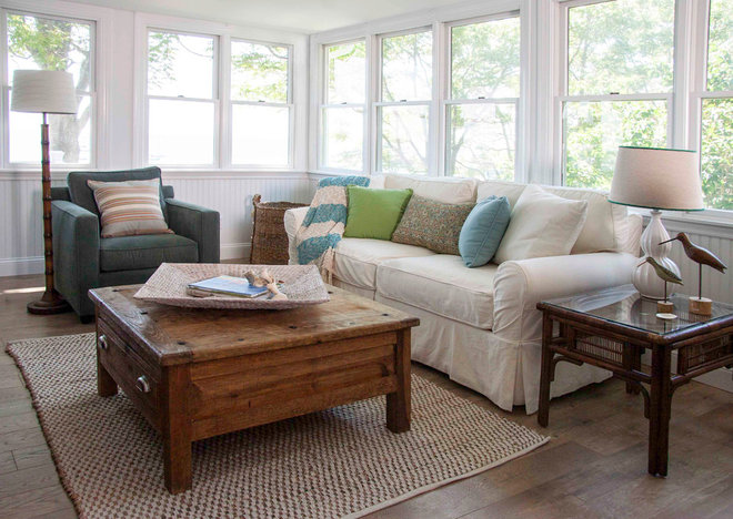 Beach Style Sunroom by Judy Cook Interiors, LLC