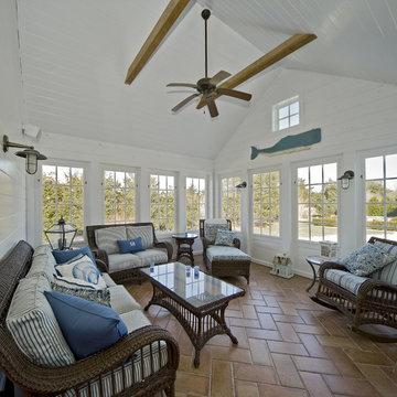 Beach Style Sunroom