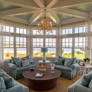 Beach Style Sunroom