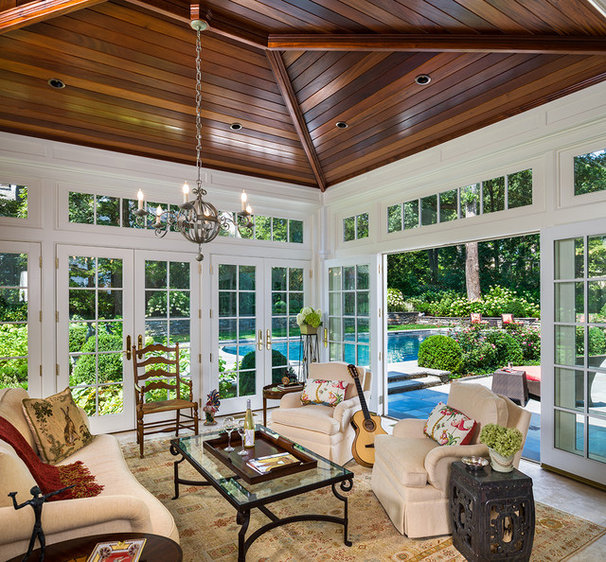Traditional Sunroom by Peter Zimmerman Architects