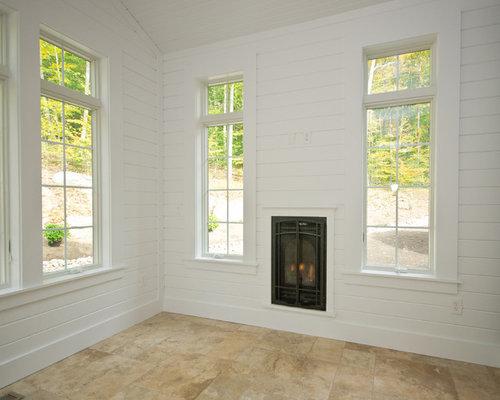 Foto e idee per verande veranda con pavimento con piastrelle in
