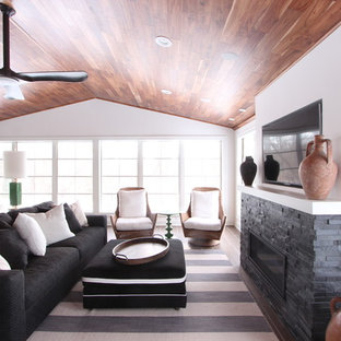 Black Custom Sofa with Custom Ottoman with Contrasting Pipping