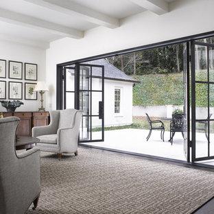 Black Steel Door with Folding Panels
