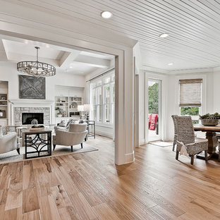 Inspiration for a craftsman light wood floor sunroom remodel in Other
