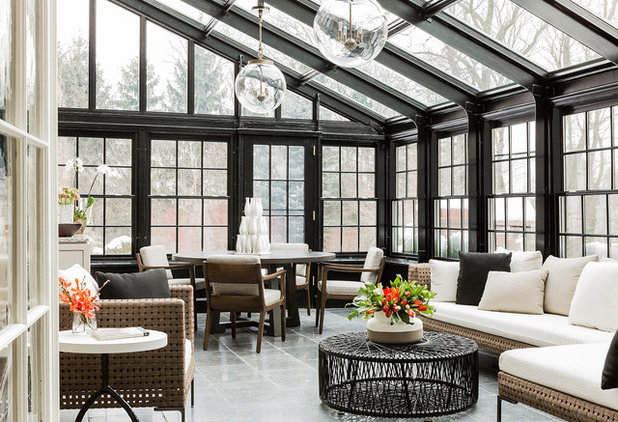 Traditional Sunroom by Elms Interior Design