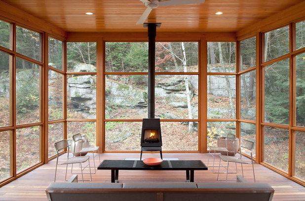 Rustic Sunroom by CWB Architects