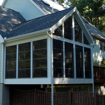 Built on existing deck - Vinyl 4 Track - 3 Season room / Rowley, MA
