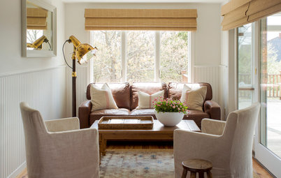 Shop Houzz: 5 Ways to Work a Classic Leather Sofa