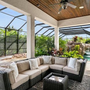 Design ideas for an expansive mediterranean conservatory in Orlando.