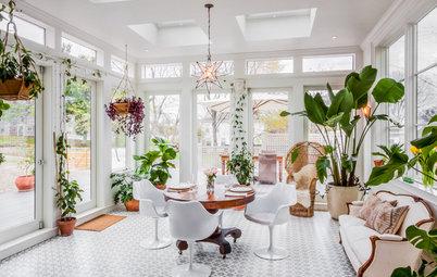 Houzz США: Зимний сад в доме из бывшей конюшни