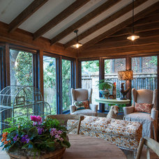 Rustic Sunroom by Key Residential