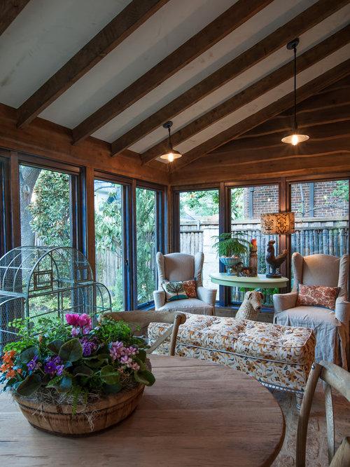 Foto e idee per verande veranda shabby chic style for Idee per verande esterne