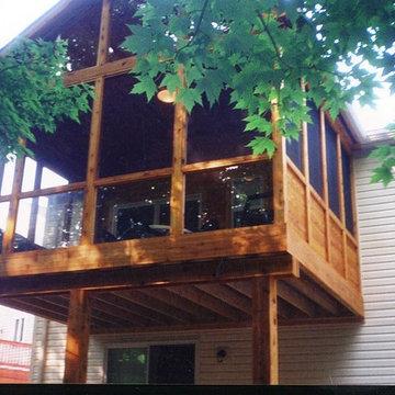 Cedar Sunrooms, screened porches