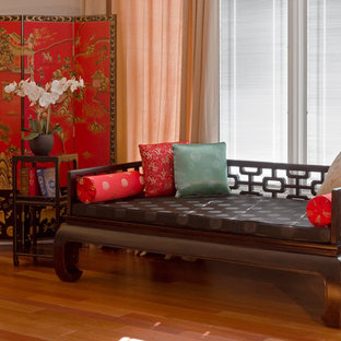 Chinese Style Reading Nook with Daybed