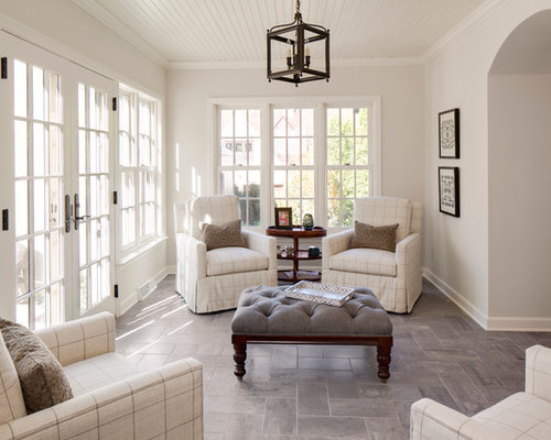 Inspiration for a timeless sunroom remodel in Milwaukee with a ...
