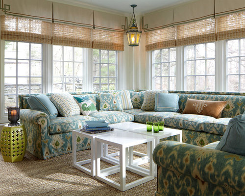Sunroom window treatment houzz for Window covering ideas for sunrooms