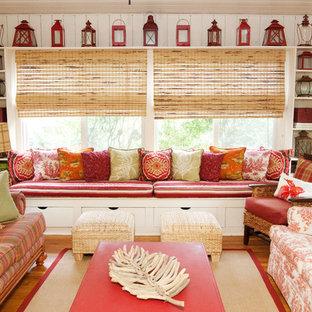Inspiration for a beach style medium tone wood floor sunroom remodel in Philadelphia