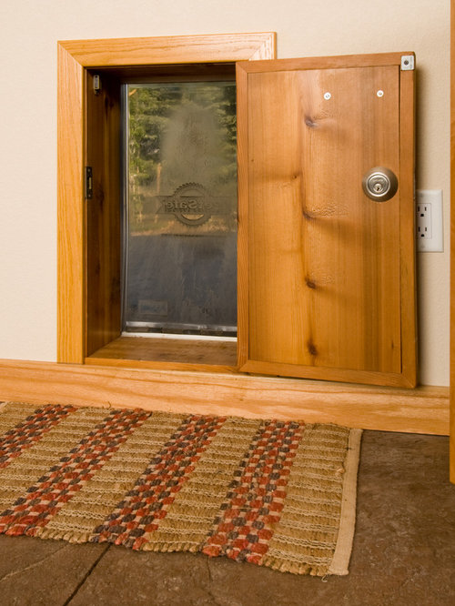 example of a classic home design design in denver - Doggie Door