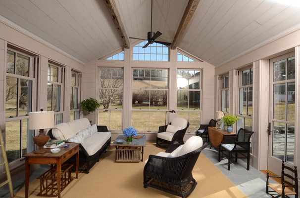 Traditional Sunroom by Barlis Wedlick Architects, Hudson River Studio