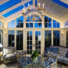 Eclectic Family Room by Conservatory Craftsmen