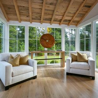 Sunroom - mid-sized transitional sunroom idea in New York